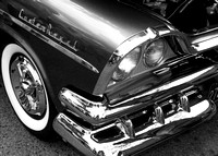 Classic Dodge Custom Royal in Black and White