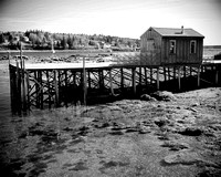 Black & White Fishing Shack Maine